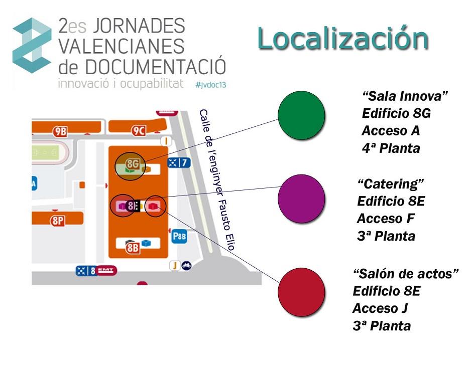 Mapa de la Ciudad Politécnica de la Innovación.