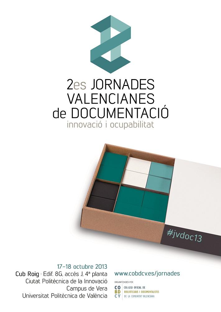Cartel de 2es Jornades Valencianes de Documentació