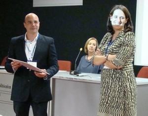 Foto de entrega de premios a los pósters-Juan Carlos y Alicia