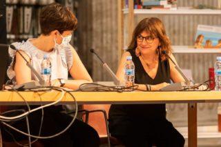 Carmen Amoraga y Amparo Pons en la 1ª Jornada Valenciana de bibliotecarios/as escolares