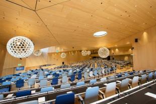 Sala de Conferències de la OMPI. Photo: Emmanuel Berrod. Llicència CC-BY-NC-ND 3.0 IGO.