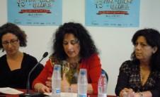 Foto de ponentes en la mesa redonda Situación de las bibliotecas en la Comunidad Valenciana (Fira del Llibre de València, 2012)