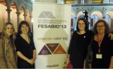 Foto de asistentes del COBDCV a las jornadas FESABID'13