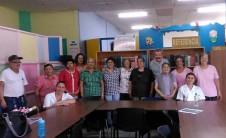 Foto grupal en la Biblioteca Municipal María Luisa Porras-Sagrada Familia (Costa Rica)